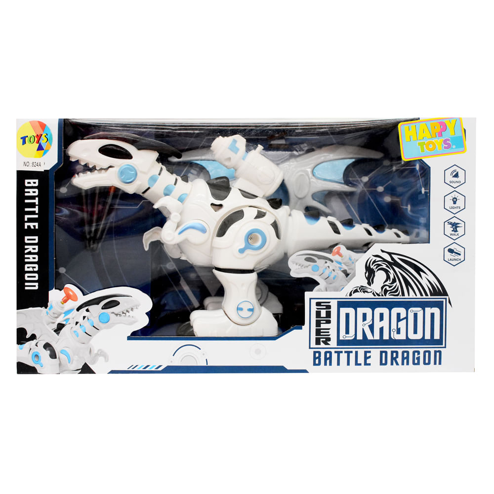 Robot-36x20x13.5-CM-Happy-Toys-Blanco-Dinosaurio