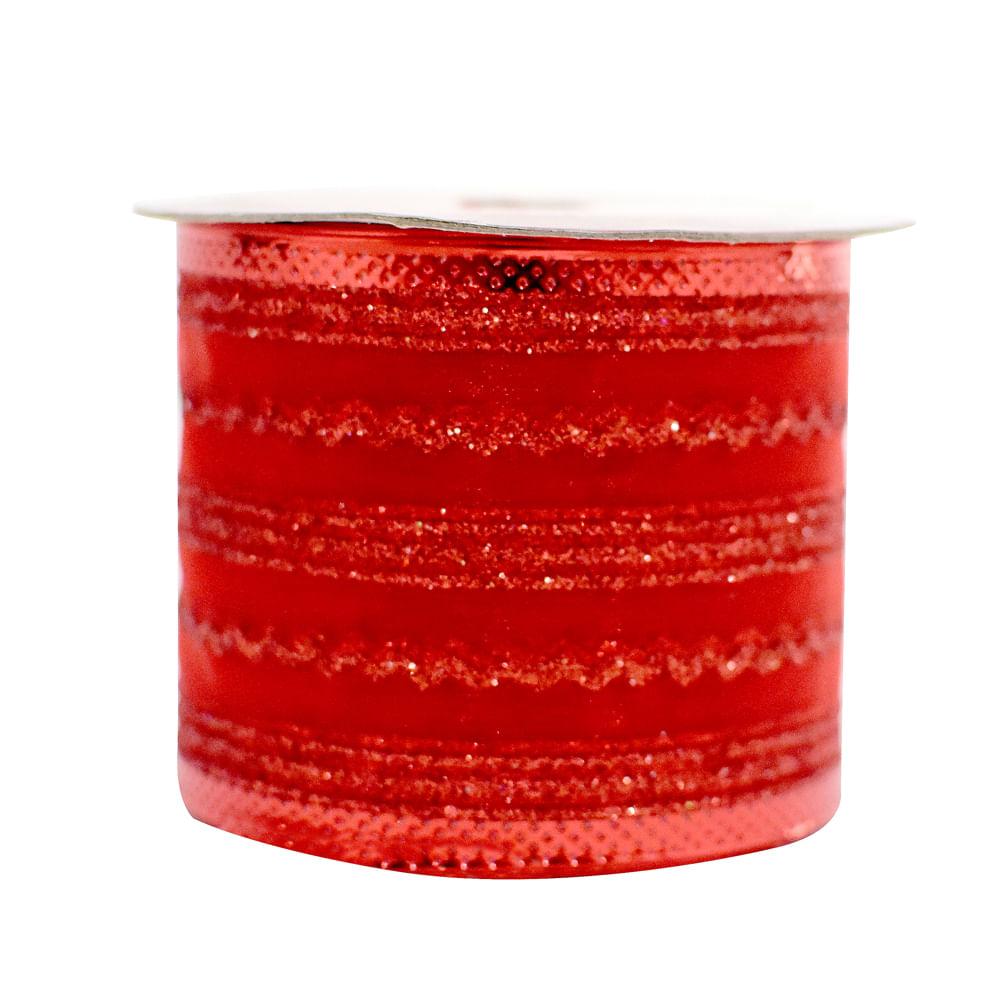 Cinta-de-Organza-6.3-cm-Best-Xmas-Surtido--Rojo-