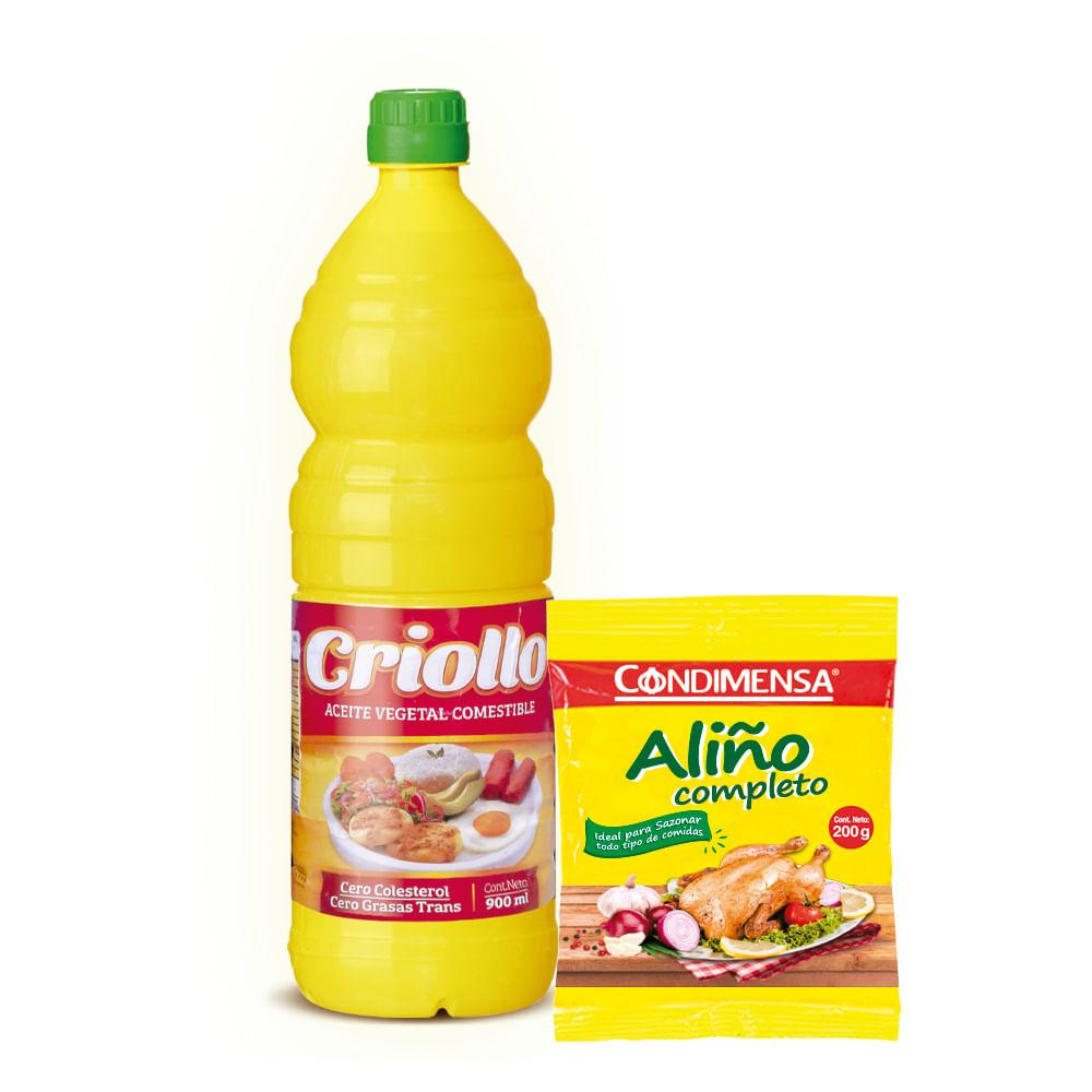 Combo-Aceite-Criollo-900-ml---Aliño-Condimensa-200-g