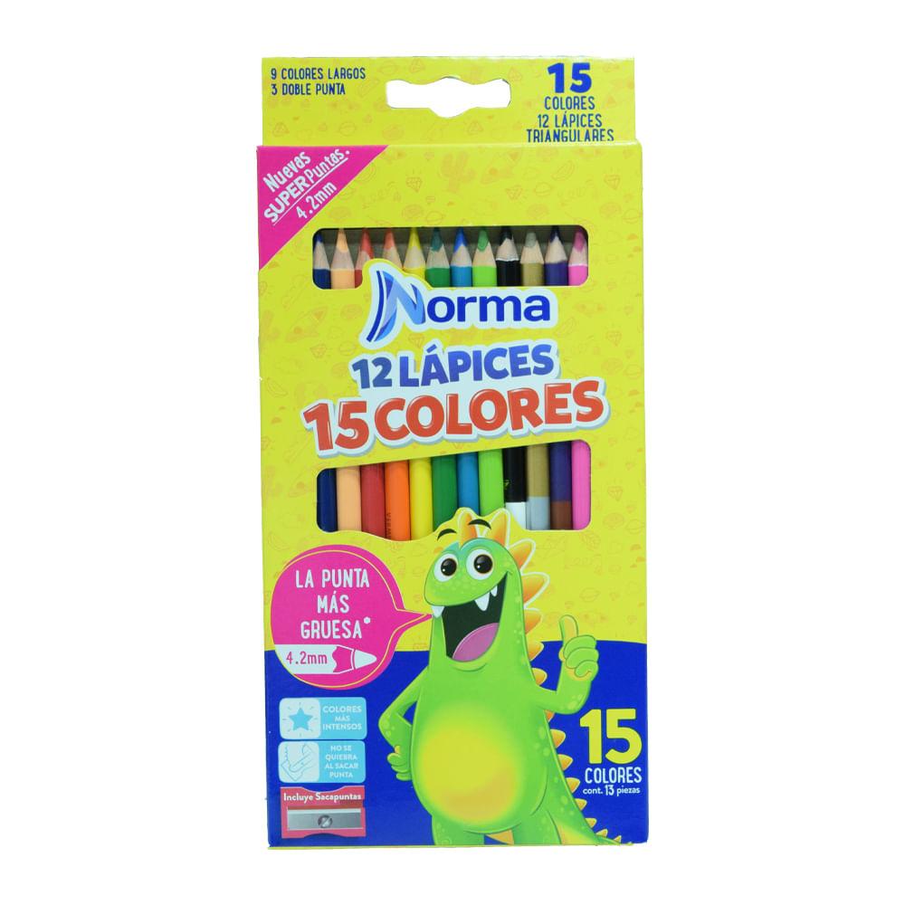 Lapiz-De-Color-Norma-15-Colores-12-unds-Triangular