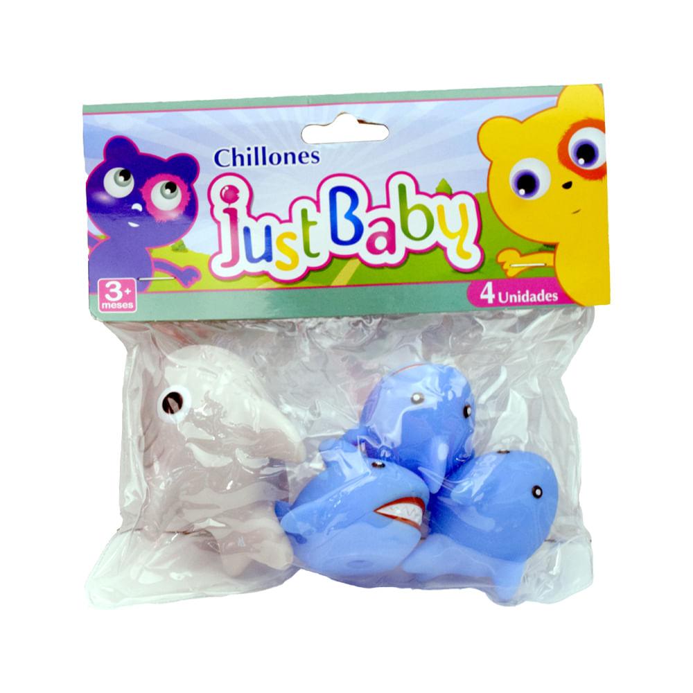 Chillones-6.5x-5cm-Just-Baby-4unds-Tiburones