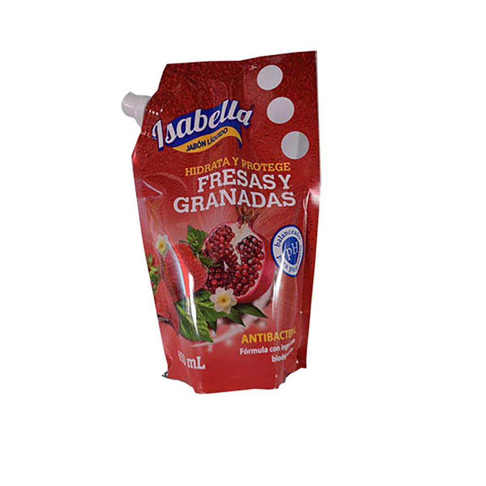 Jabon-Liquido-Isabella-Doypack-650-Ml-Fresas-Y-Granadas