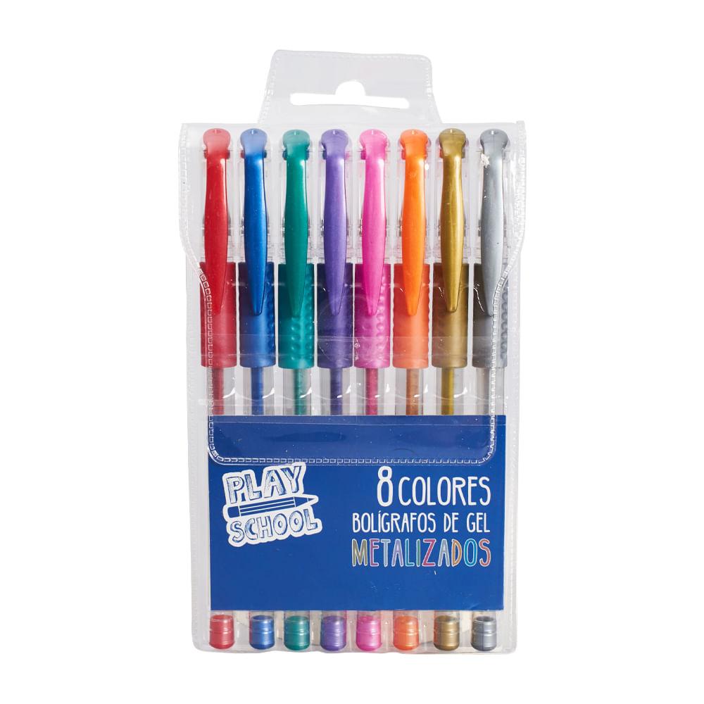 Boligrafo-Gel-Play-School-8-Uni-Metalizado-Nv