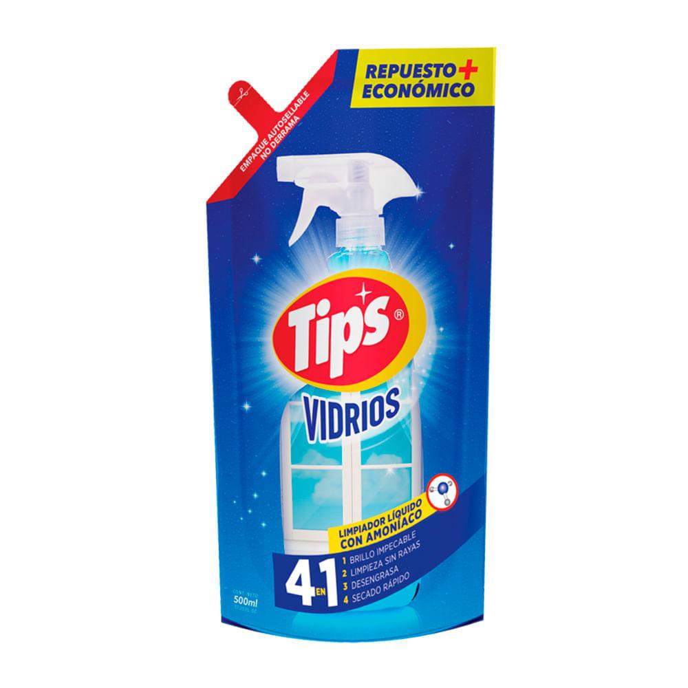 Limpia-vidrios-repuesto-Tips-doypack-500-ml-original