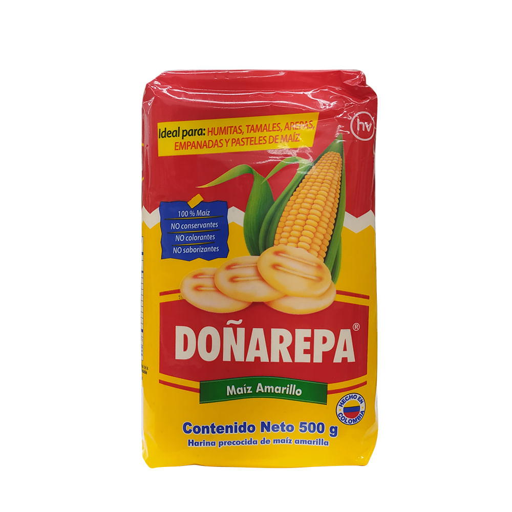 Harina-de-maiz-Doñarepa-500-amarilla