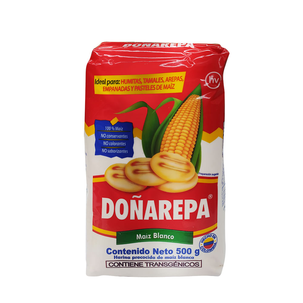 Harina-de-maiz-Doñarepa-500-Blanca