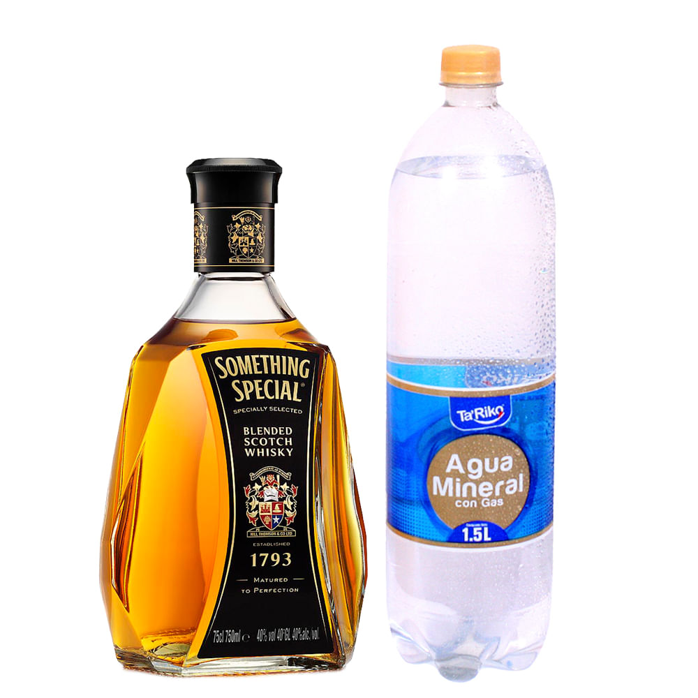 Whisky-Something-Special-750-ml---Agua-mineral-c-gas-Ta--Riko-1.5-L