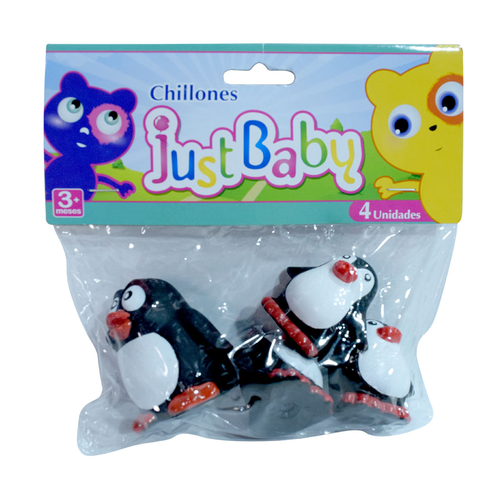 Chillones-Just-Baby-Pinguino-6.5x5cm-4-unidades