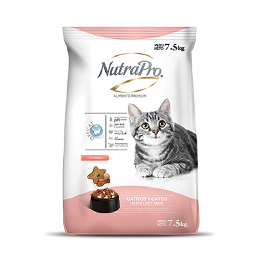 Alimento-para-gatos-y-gatitos-Nutrapro-7.5-Kg---Sabor-Pollo
