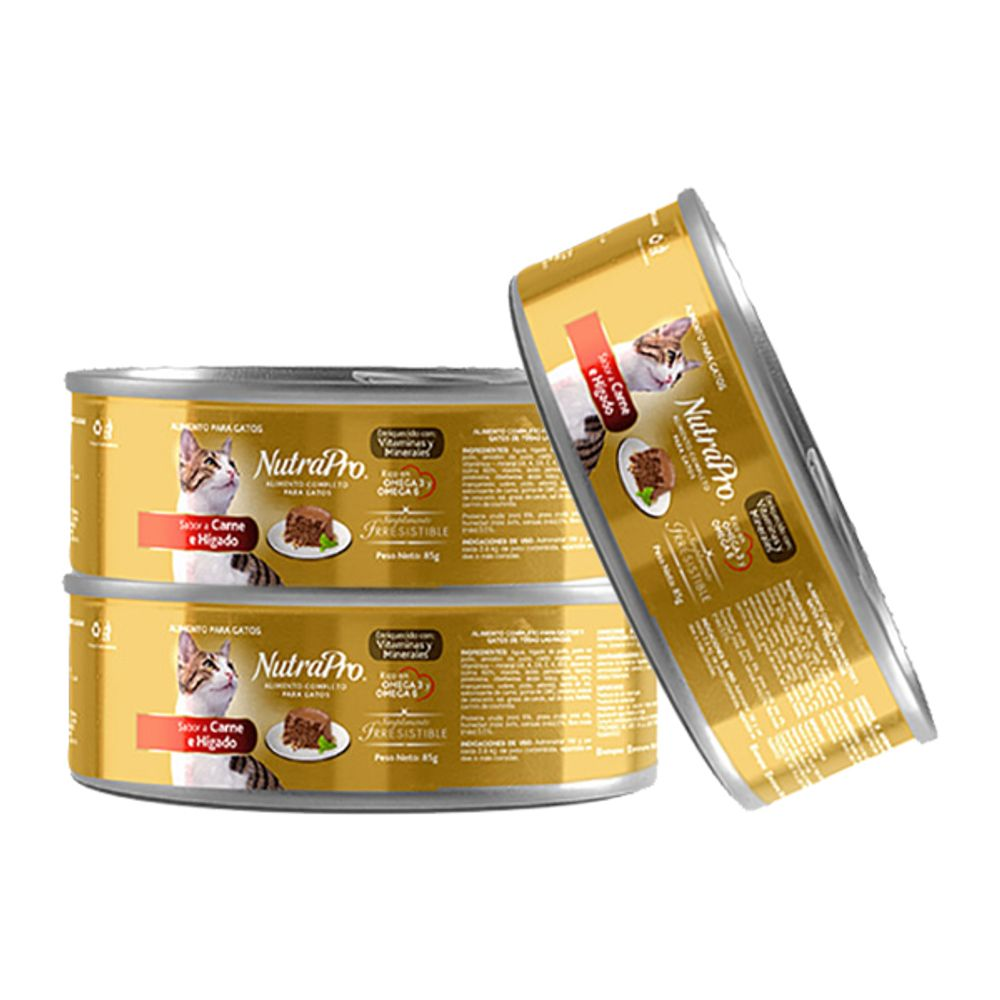 Alimento-humedo-para-gato-Nutrapro-85g-Carne-Higado-x3-unds