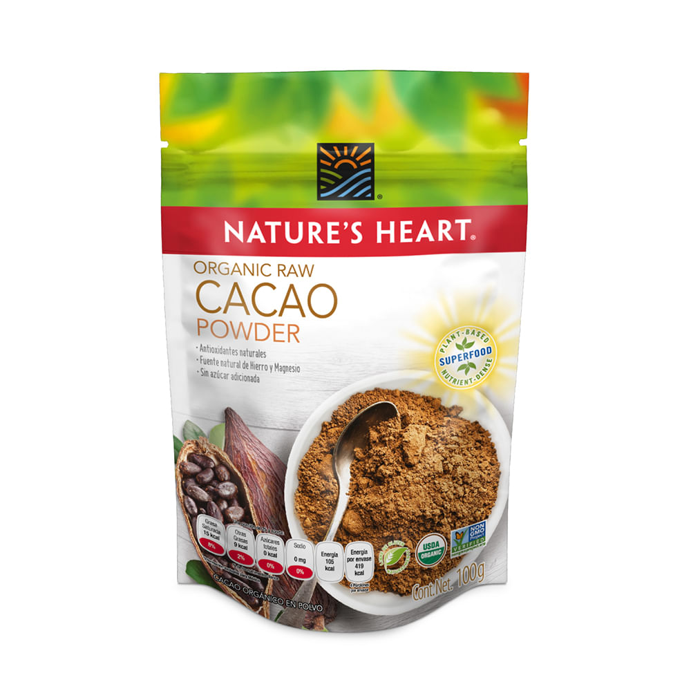 Cacao-Organic-Natures-Heart-Doypack-100-G