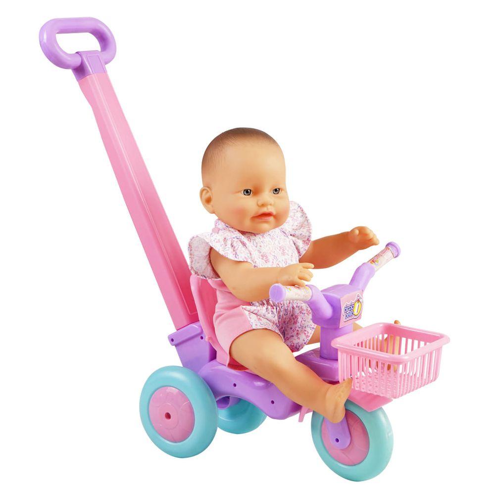 Muñeco-plastico-Cicciobello-triciclo-