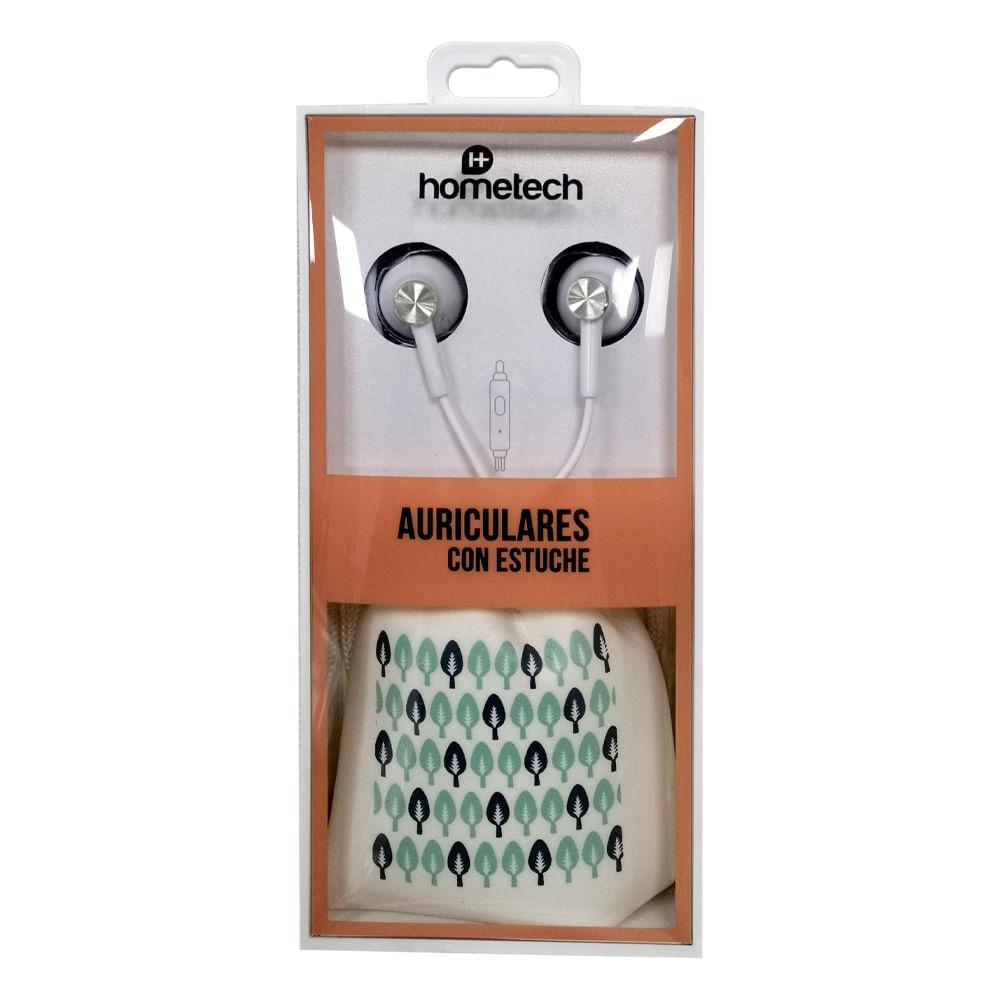 Auriculares-con-estuche-Hometech---Blanco---Turqueza