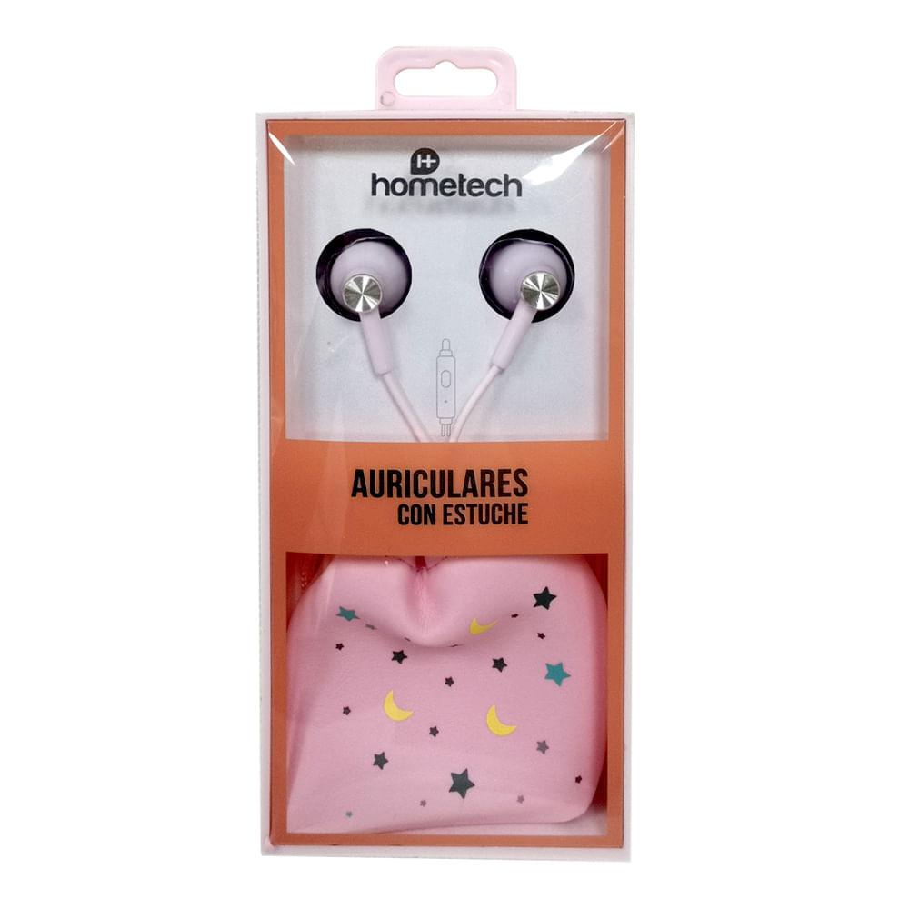 Auriculares-con-estuche-Hometech---Rosa