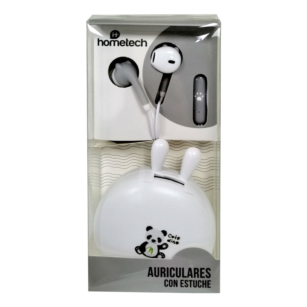 Auriculares-con-estuche-Hometech---Gris---Blanco