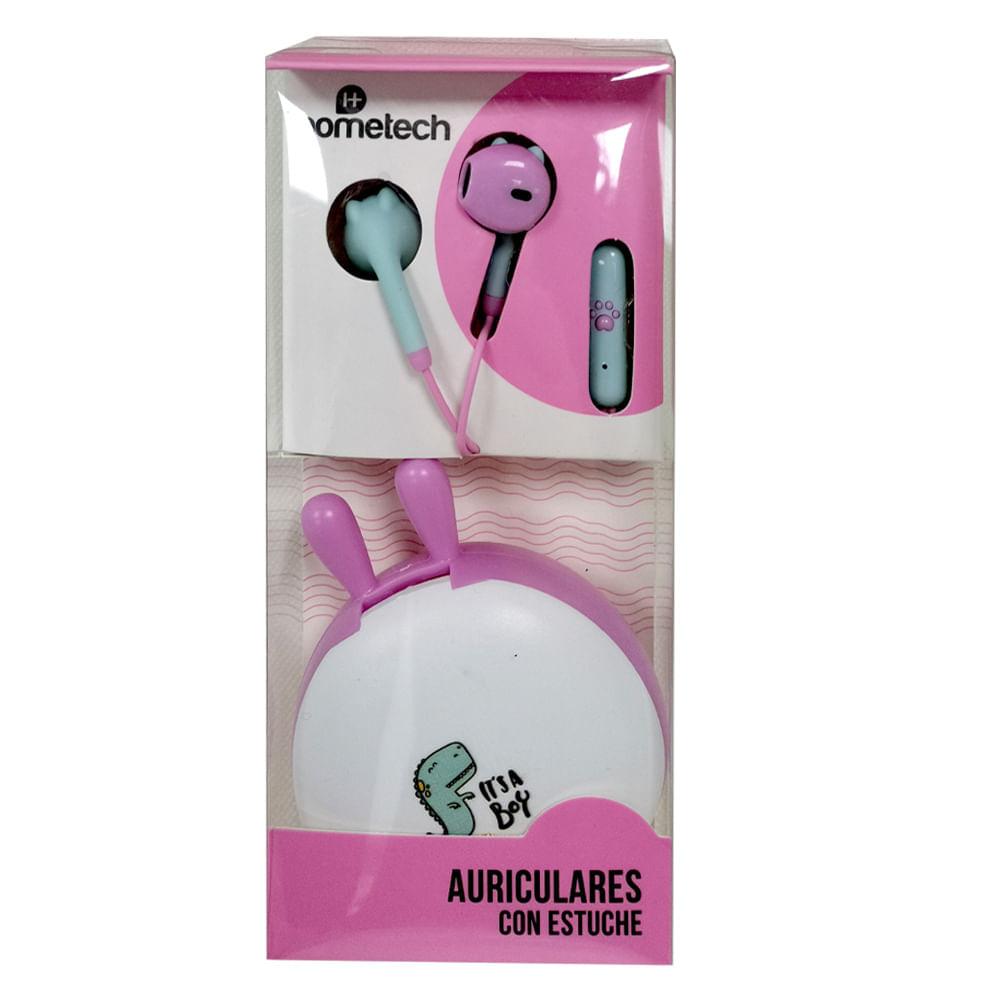 Auriculares-con-estuche-Hometech---Blanco---Rosado
