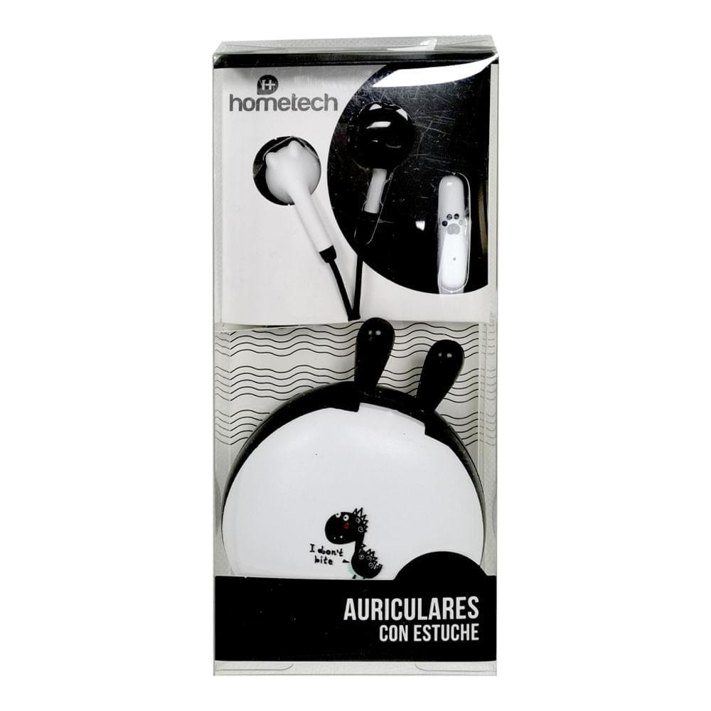 Auriculares-con-estuche-Hometech---Blanco---Negro