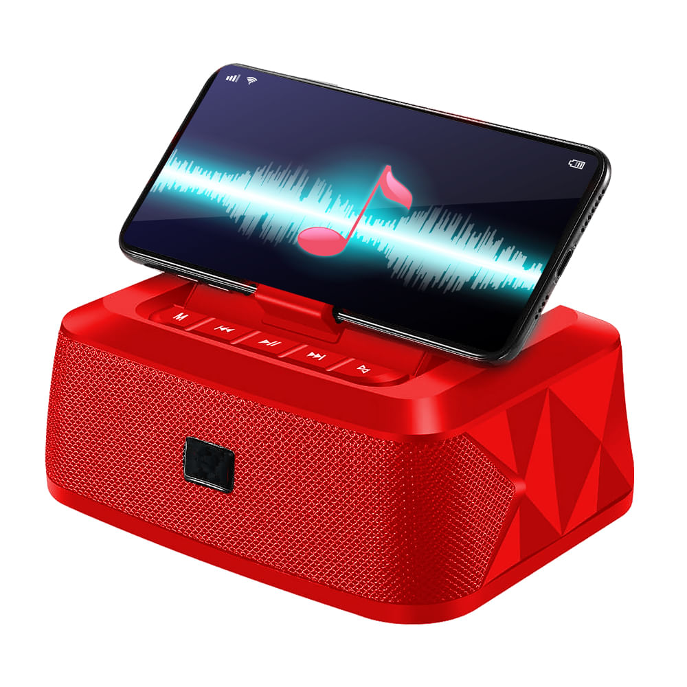 Mini-parlante-16x7cm-con-Bluetooth-Hometech---Rojo