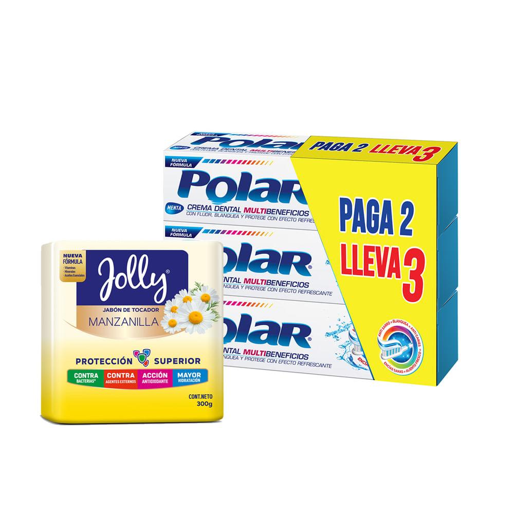 Crema-dental-Polar-75-ml-x3-unds---Jabon-Jolly-manzanilla-x3-unds