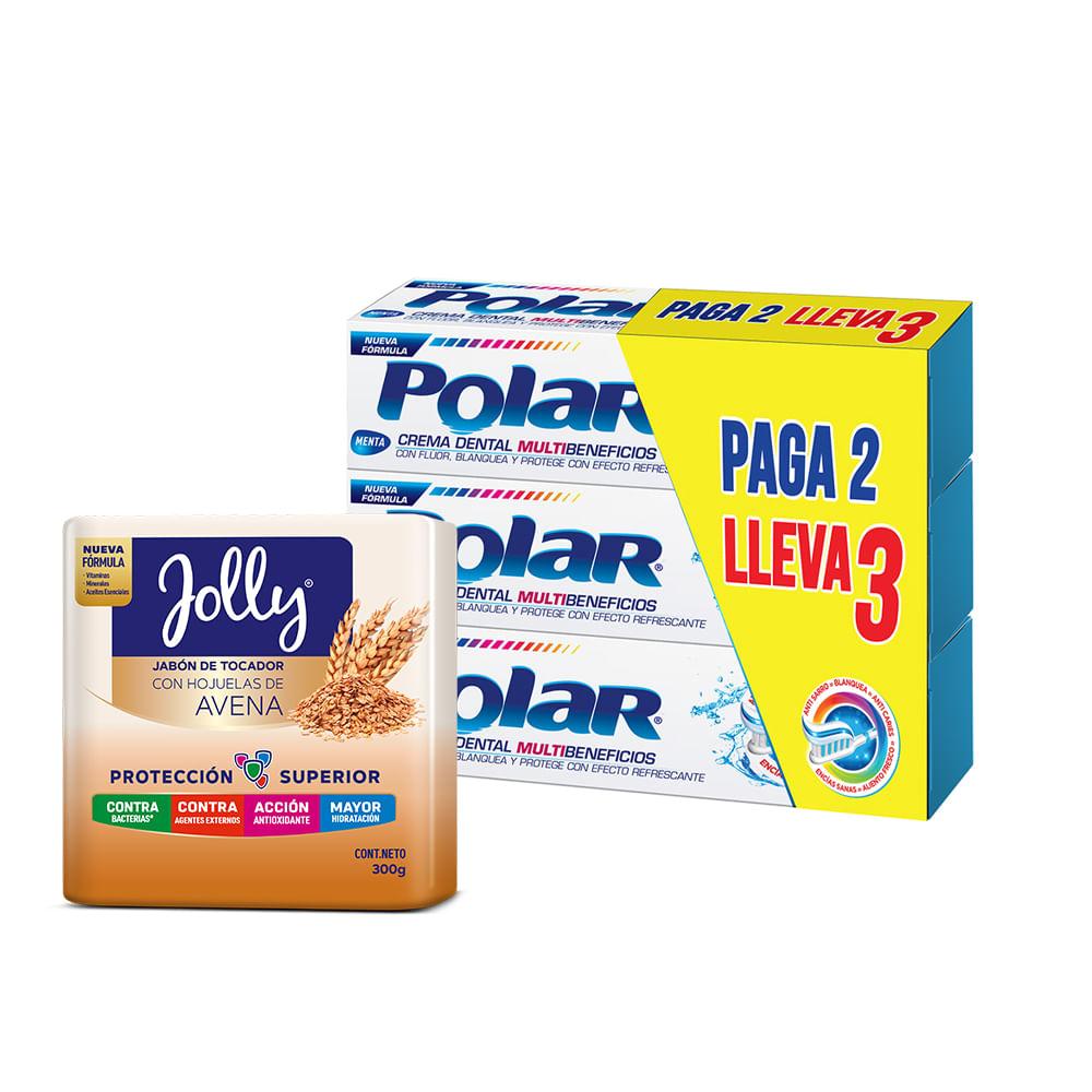 Crema-dental-Polar-75-ml-x3-unds---Jabon-Jolly-Avena-x3-unds