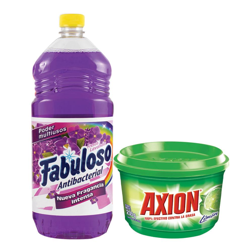 Combo-Desinfectante-Fabuloso-1-L-Lavanda---Lavavajilla-Axion-235g-Limon