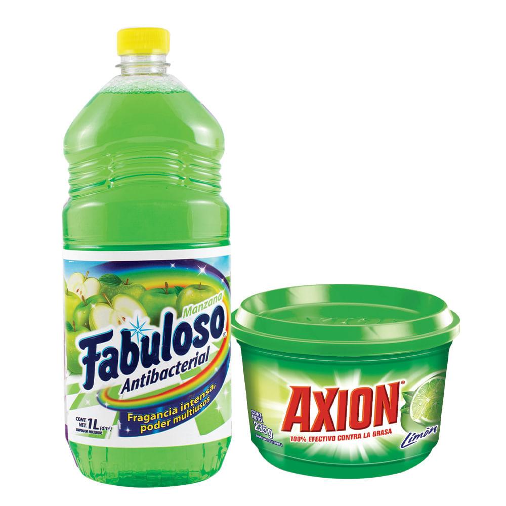 Combo-Desinfectante-Fabuloso-1-L-Manzana---Lavavajilla-Axion-235g-Limon