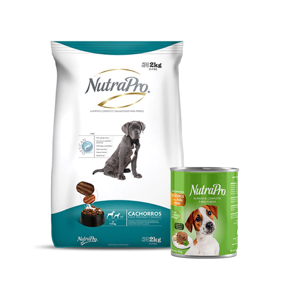 Combo-Alimento-para-perro-cachorro-R-Med-Gra-Nutrapro-2Kg---Alimento-humedo-para-perro-Nutrapro-400-g-Pollo-Vegetales