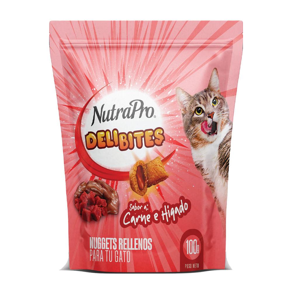 Snack-para-gato-Nutrapro-deli-bites-100-g-carne-e-higado-