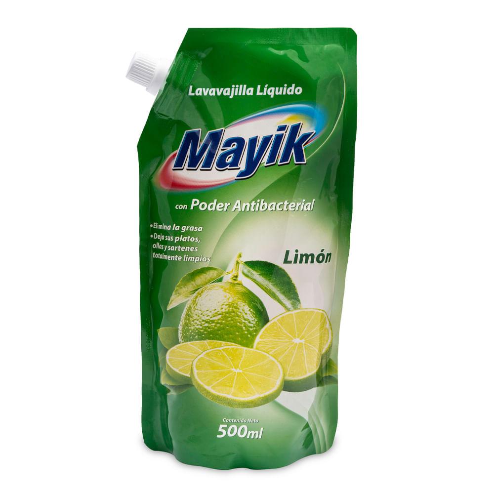 Lavavajilla-liquido-Mayik-doypack-500-ml-limon-