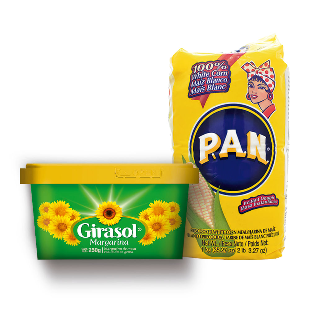 Combo-Margarina-250g---Harina-de-maiz-1-Kg