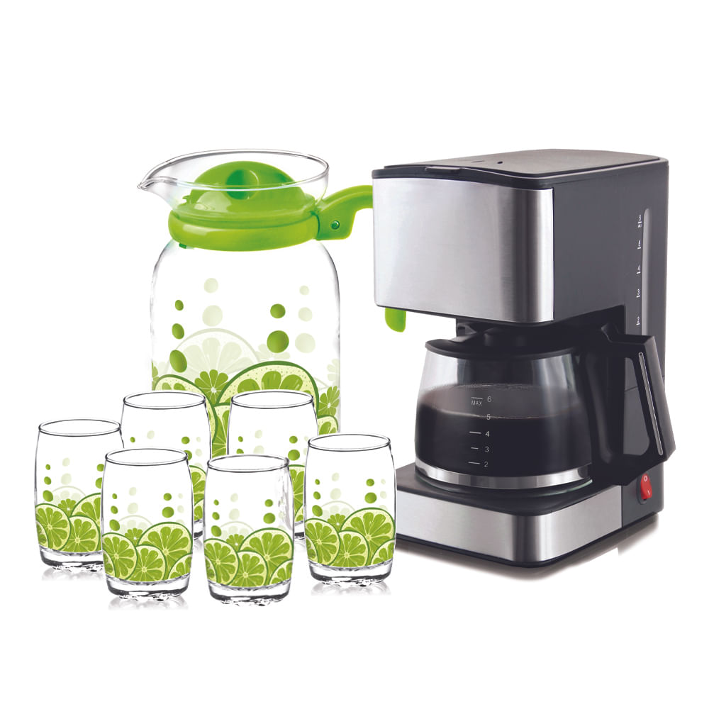 Combo-Cafetera-800-ml---Set-de-jarra-con-vasos-7-Pzas
