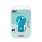 Mini-mouse-inalambrico-M187-turquesa-Logitech