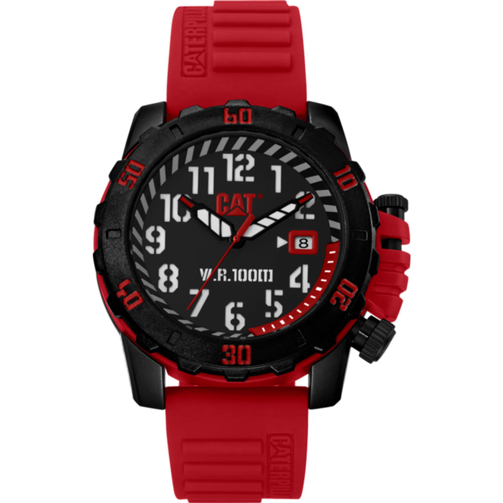 Reloj-barricade-rojo-Caterpillar